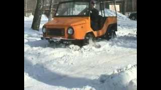 Колесно-шагающий авто на снегу АВГ2012