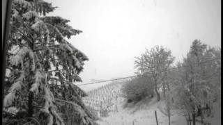 Thundersnow (thunderstorm with snow) in Castiglione Tinella, NW Italy, March 5, 2016