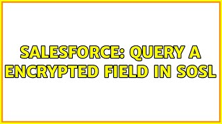 Salesforce: Query a Encrypted field in SOSL