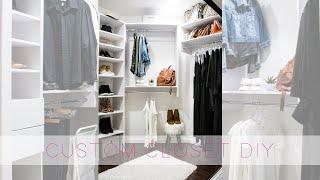 Easy Custom Closet DIY With Modular Closets