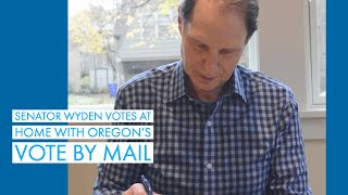 Senator Wyden Votes at Home with Oregon's Vote By Mail