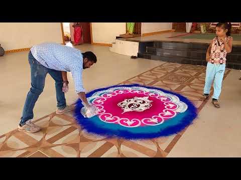 sanskar bharti rangoli design colourful by ganesh vedpathak