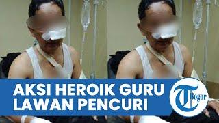 Aksi Heroik Guru di Cianjur saat Dengar Minta Tolong, Duel dengan Pencuri hingga Kena Bacok