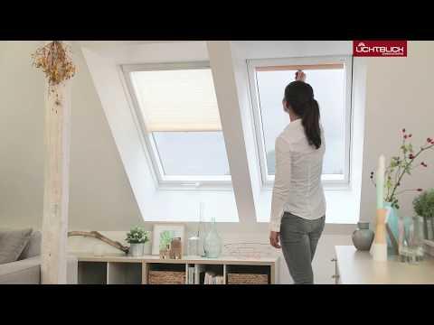Dachfenster Plissee Haftfix Sonnenschutz ohne Bohren, mit Saugnapf Montageanleitung