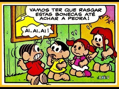 Mônica - O rapto das bonecas - gibis quadrinhos Turma da Mônica