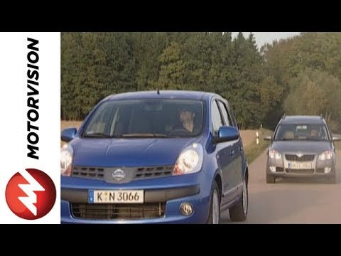 Nissan Note vs Skoda Roomster Car Comparison