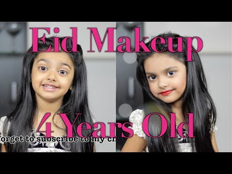 The world's youngest makeup artist does Eid makeup! 4 Year old | INCREDIBLE! | Aimalifestyle