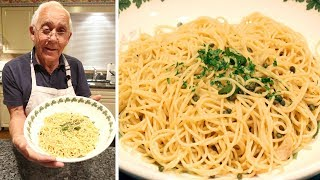 Spaghetti Aglio e Olio and Anchovies Recipe