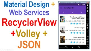 250 Android Web Service Tutorial RecyclerView + Volley + JSON | coursetro.com