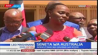 Mkenya ambaye ni seneta wa Australia, Lucy Gichuhi akutana na gavana wa Nyeri