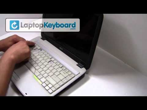 Acer Aspire Travelmate Keyboard Installation Laptop Replacement Guide - Remove Replace Install 5315
