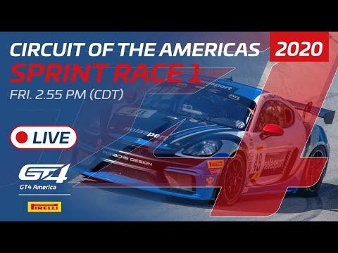 2020年 ブランパンGTワールドチャレンジ・アメリカ(COTA)GT4SPINT レース1 レースライブ配信動画
