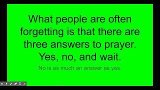 Answers to prayers