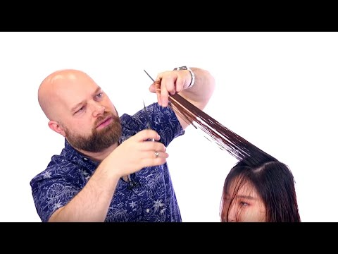 Asian Hair Layered Haircut + Dyson Airwrap Blowout – TheSalonGuy