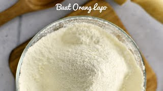 Cara Membuat Tepung Kek Sendiri (sukatan 1 cawan)
