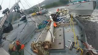 Смотреть онлайн Одна лодка врезается в другую из-за рыбы