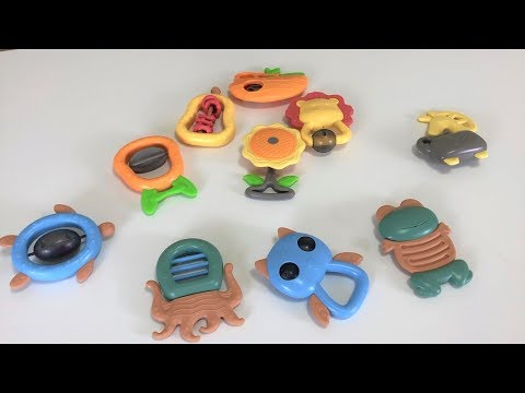 Baby Rattles Teether Toys, Shaker, BPA Free Toys Rattle Gift Set Sensory Development Toys
