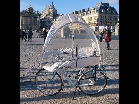 Roofbi, montage rapide de la protection de pluie pour vélo