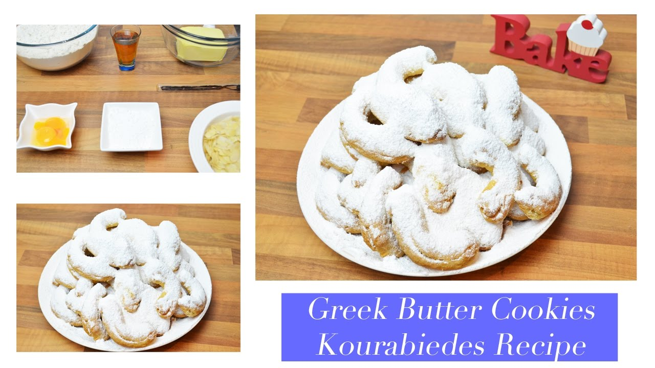 Greek Butter Cookies (Kourabiedes) EASY Recipe Κουραμπιέδες
