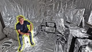 TIN FOILING MY BROTHERS ROOM *EPIC PRANK*