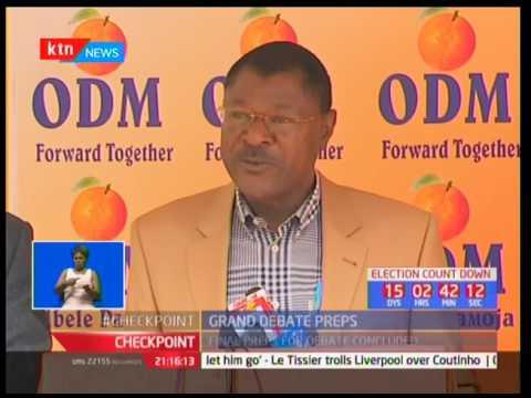 Grand Debate set for tomorrow Uhuru Kenyatta and Raila Odinga face off