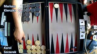III Mistrzostwa Polski w Backgammona - Runda 4 - Karol Szczerek vs Mariusz Kierczka