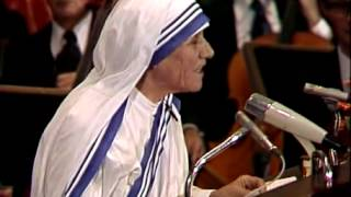 Acceptance Speech by Mother Teresa   Media Player at Nobelprize org