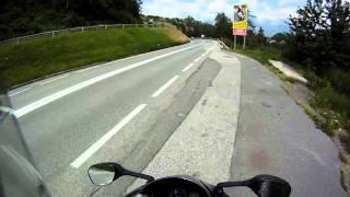 preview picture of video 'Hausstrecke im Stubaital mit Gsxr 1000 K6 (GoPro HD)'