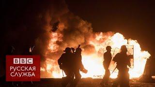 """Стычки беженцев с полицией в лагере """"Джунгли"""" в Кале"""