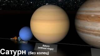 Смотреть онлайн Сравнение соотношения планет и звезд вселенной