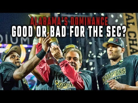 Is Alabama's dominance a good thing for the SEC?