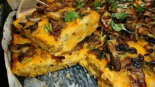 מתכון לפשטידת בטטה בצל ופטריות מתכון מנצח וטעים המתאים גם לצמחוניים