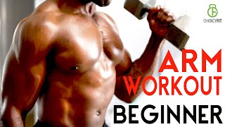 BEGINNER ARM WORKOUT FOR SKINNY PEOPLE AT HOME WITH DUMBBELL