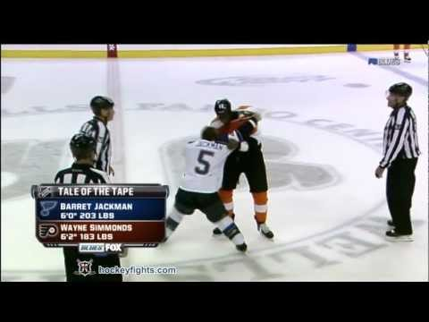 Barret Jackman vs Wayne Simmonds