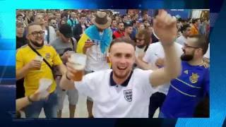 English and Ukrainian fans on EURO 2016, putin huilo!   Украинские и английские фаны, путин хйло!