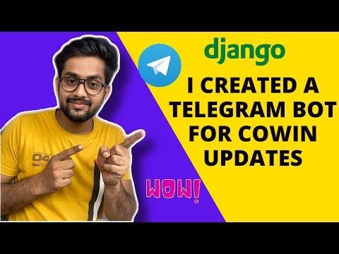 Python django telegram bot | Telegram bot using django |  Telegram bot tutorial | [ telegram bot ] thumbnail