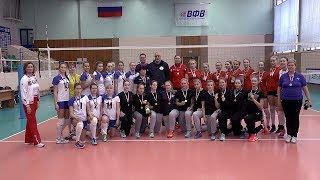Волейбол. Награждение. 1. Тула,, 2. Обнинск, 3. Иваново