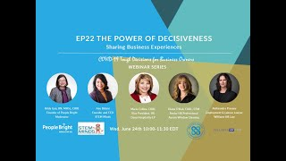 COVID-19 TDBO: EP22 The Power of Decisiveness – Sharing Business Experiences Webinar Recording