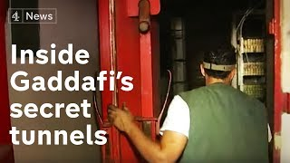 Inside Gaddafi's secret tunnels | Channel 4 News