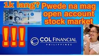 Paano mag open account sa stock market gamit ang COL financial || ofw tips