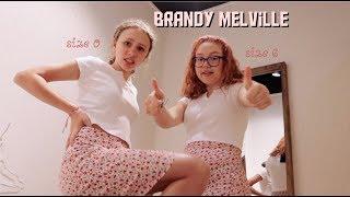 BRANDY MELVILLE ON SIZE 0 VS SIZE 6 (different Body Types)