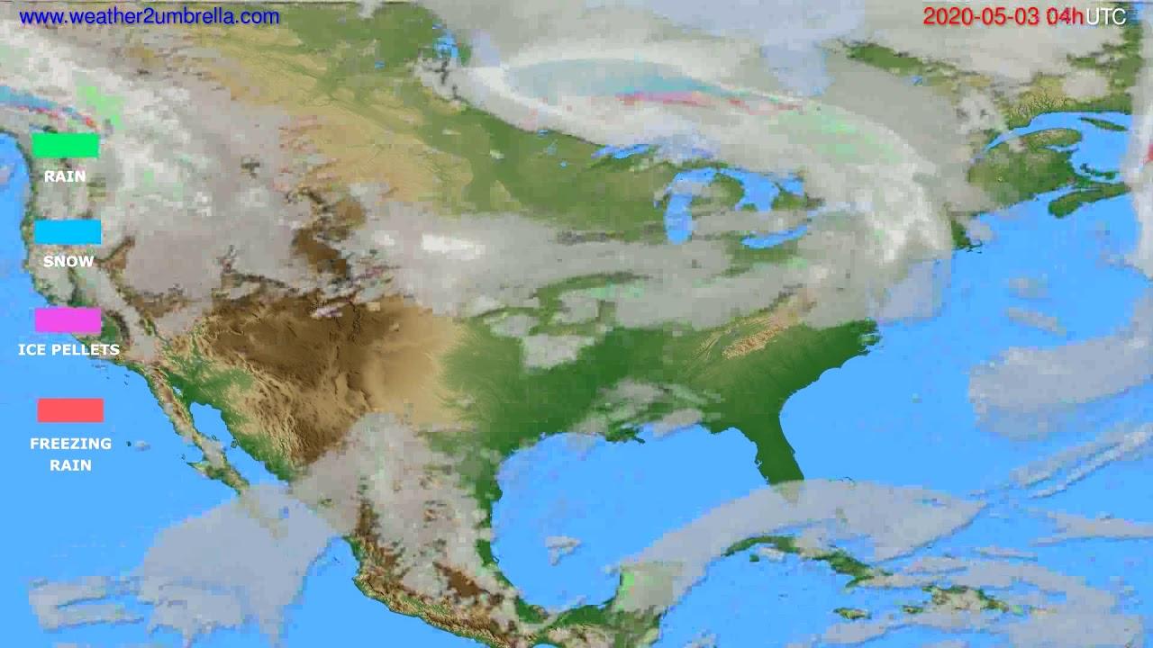 Precipitation forecast USA & Canada // modelrun: 12h UTC 2020-05-02