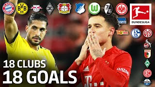 18 Clubs, 18 Goals - The Best Goal by Every Bundesliga Team in 2019/20