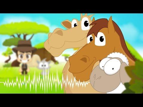 Animal Sounds in Arabic for Kids - أصوات الحيوانات للاطفال باللغة العربية