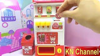 Đồ chơi trẻ em BÉ NA GIỚI THIỆU MÁY BÁN NƯỚC TỰ ĐỘNG VÀ LẮP RÁP LEGO