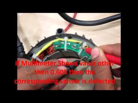Hall sensor replaced on MAC hub motor + tests with Bafang