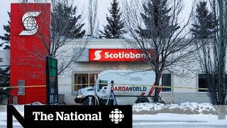 2 security guards injured in explosion at Edmonton bank