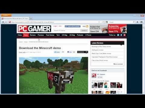 Minecraft Free Demo Quick Start Guide Windows PC Download Only - Skin para minecraft pc gamer demo