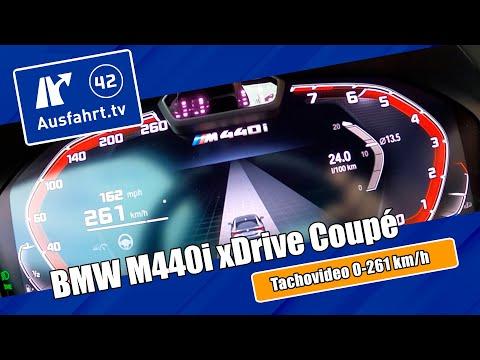 Tachovideo BMW M440i xDrive Coupé Steptronic (G22) 0-100 kmh kph 0-60 mph Beschleunigung