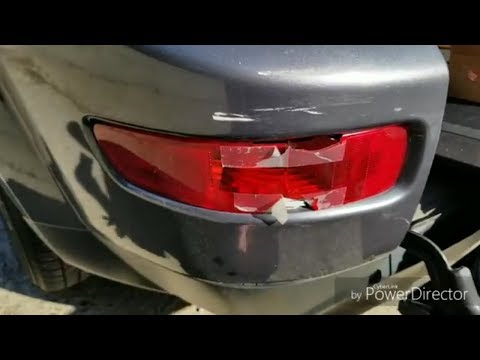 Mitsubishi Outlander XL,  ремонт фонаря и бампера